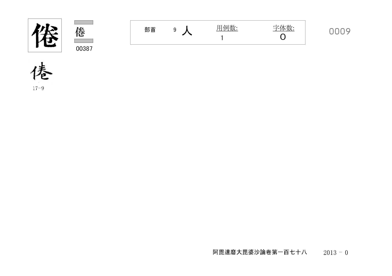 71_阿毘達磨大毘婆沙論卷百七十八(正倉院本)/cards/0009.jpg