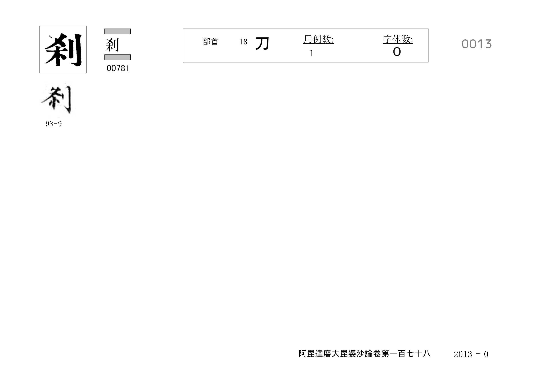 71_阿毘達磨大毘婆沙論卷百七十八(正倉院本)/cards/0013.jpg