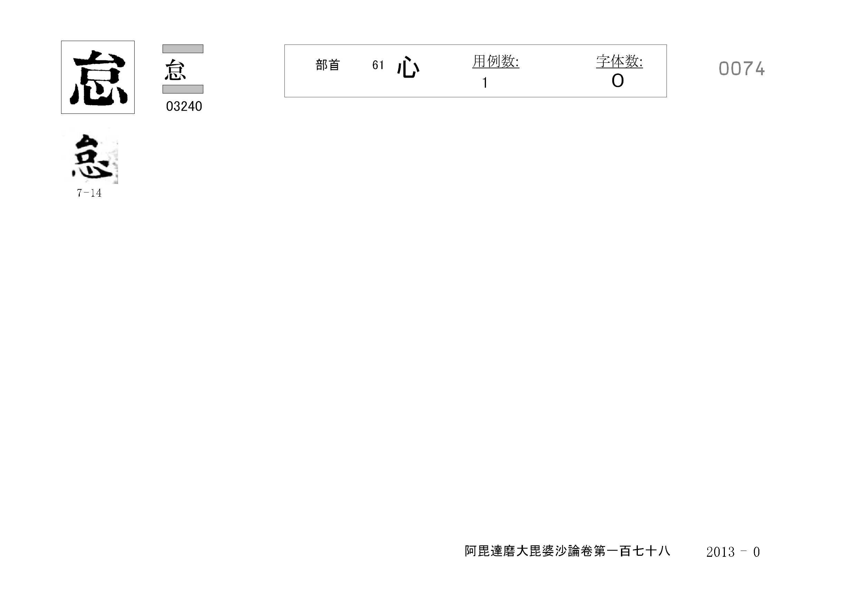 71_阿毘達磨大毘婆沙論卷百七十八(正倉院本)/cards/0074.jpg