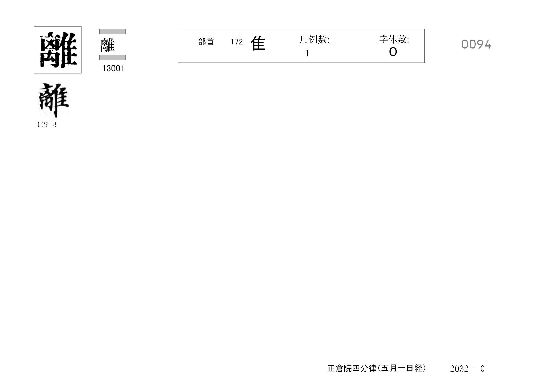 77_四分律卷第十六(正倉院五月一日經)/cards/0094.jpg