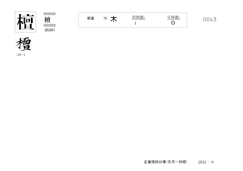 77_四分律卷第十六(正倉院五月一日經)/cards/0043.jpg