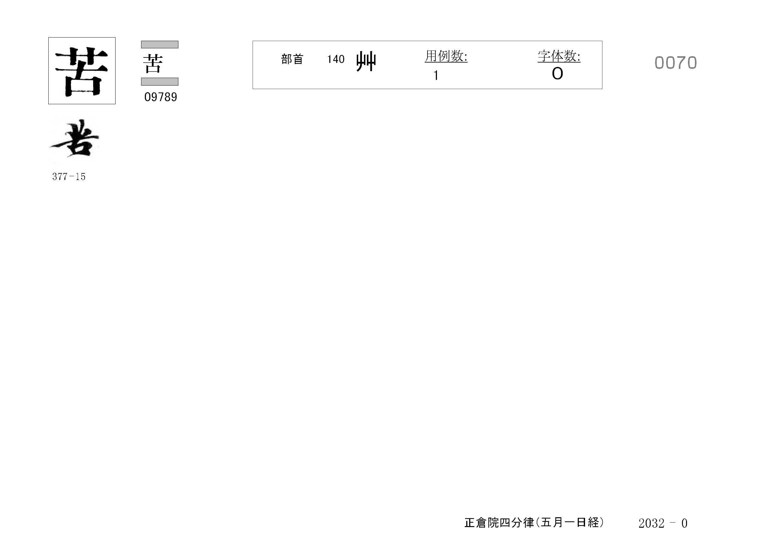 77_四分律卷第十六(正倉院五月一日經)/cards/0070.jpg