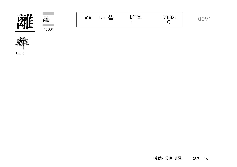 78_四分律卷第二十(正倉院唐經)/cards/0091.jpg