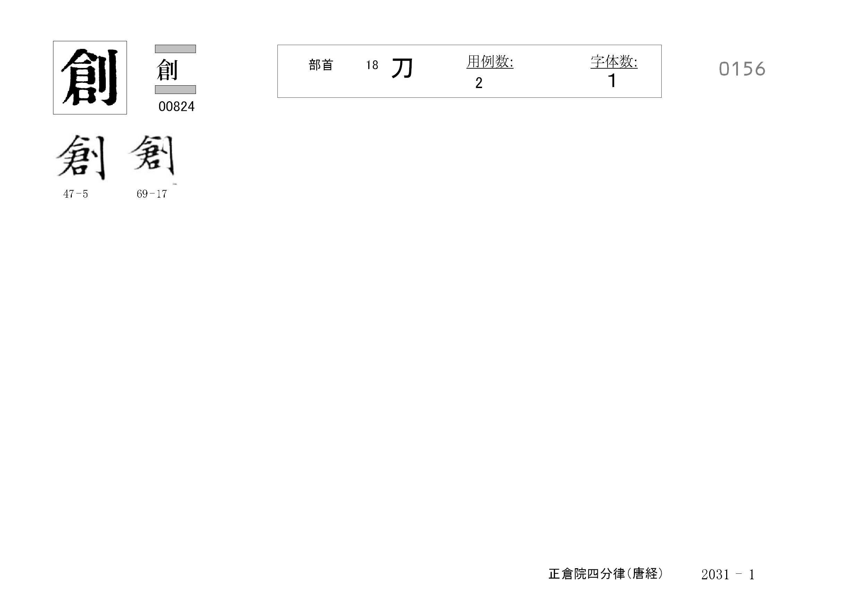 78_四分律卷第二十(正倉院唐經)/cards/0156.jpg