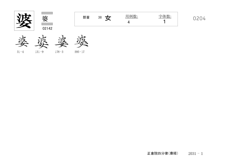 78_四分律卷第二十(正倉院唐經)/cards/0204.jpg